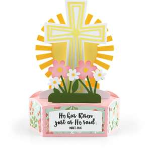 hexagon pop up card easter cross