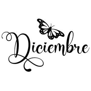 diciembre butterfly word