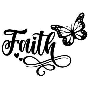 faith butterfly word