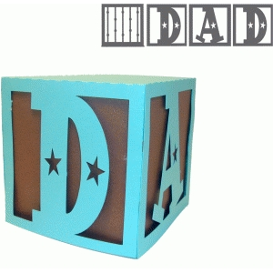 dad cutout box