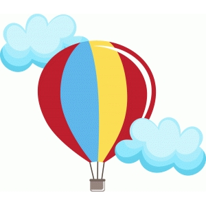 hot air balloons with clouds