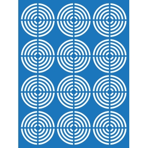 crossed circles mat