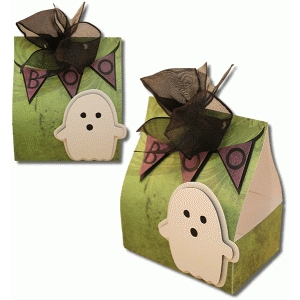 3d open sided halloween favor box