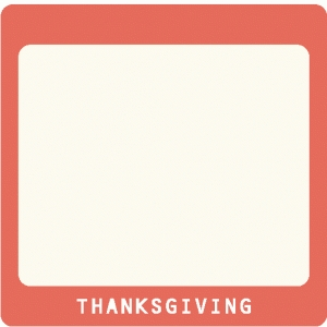 thanksgiving slide frame