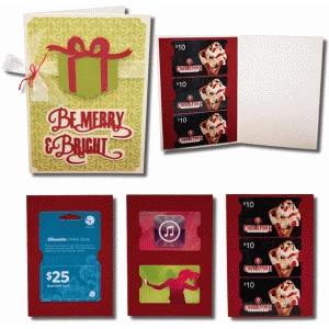 be merry a7 gift card with gift card inserts