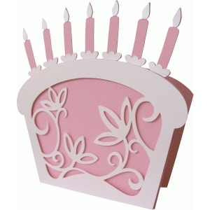 birthday cake shape card