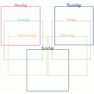 days of the week page mats