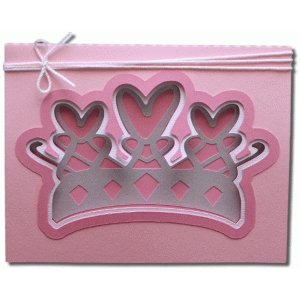 princess fancy layers a2 card