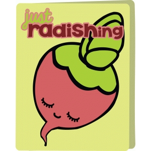 radishing kawaii card