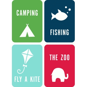 3x4 summer life cards set