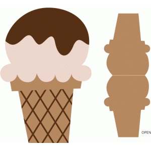 fudge topped ice cream cone card