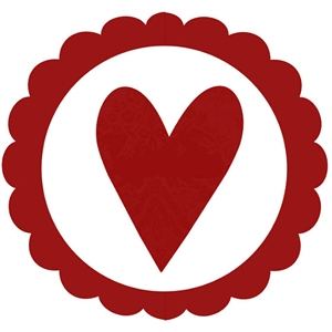 House of 3:  scalloped heart seal