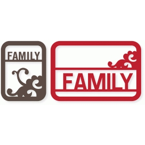 'family' flourish cards
