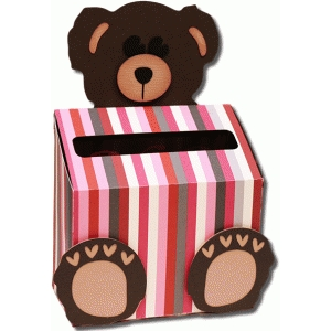 3d teddy bear valentine box