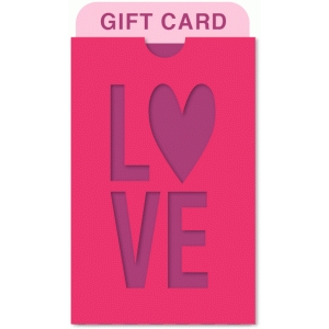 love pocket gift card holder
