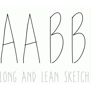 long and lean sketch font
