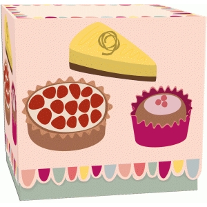 patisserie cakes printed box with lid