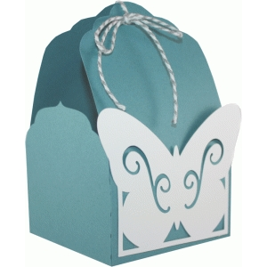 tag topper favor box - butterfly