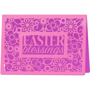 easter blessings 7x5 card