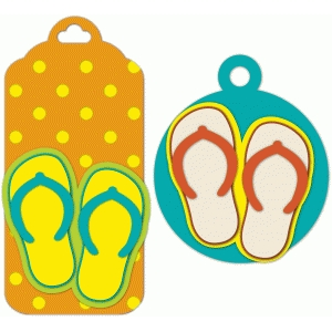 polka dot flip flop tags