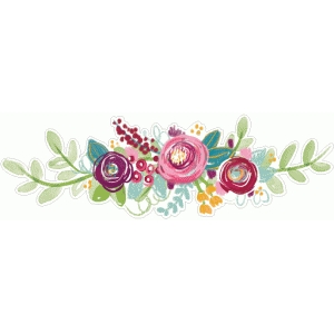 floral border painted
