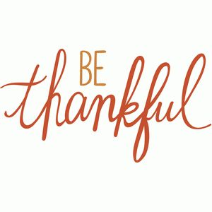 be thankful script