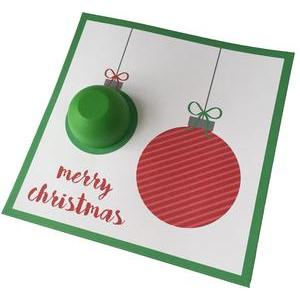 ornament lip balm card