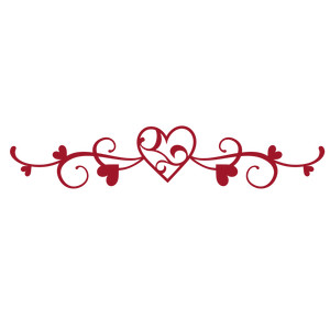 fancy flourish heart border