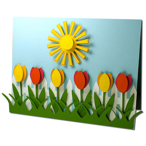 tulip fence card