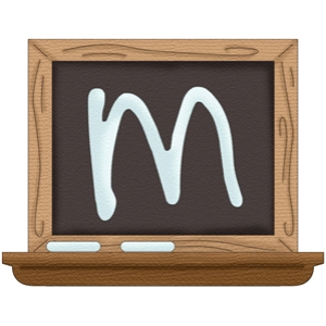 back to school alphabet m