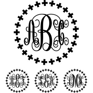 monogram elaborate script font - plus sign