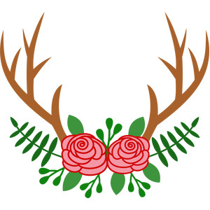 deer antlers with flowers