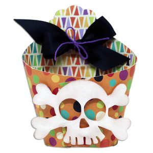 wrap box with skull