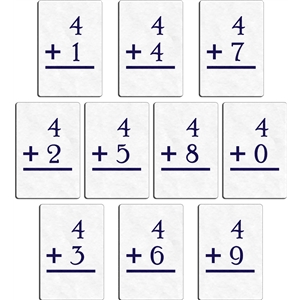 flashcard -plus 4