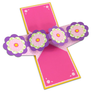 twist pop-up flowers card