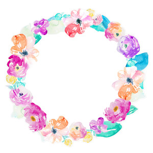 cute spring flower wreath