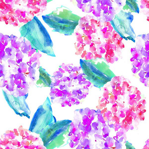 cute watercolor hydrangea pattern