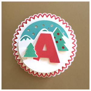 letter a card