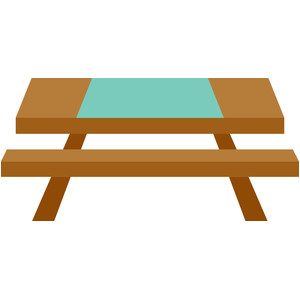 picnic table - happy camper