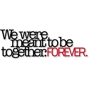 meant to be together...