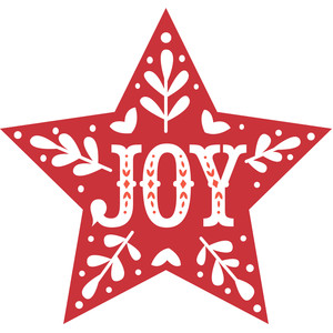nordic star joy decoration