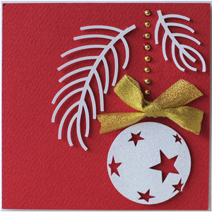 christmas ball layer card