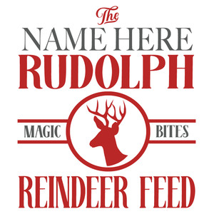 custom reindeer feed sign
