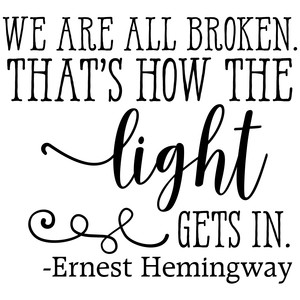 we are all broken quote