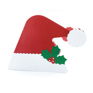 christmas santa claus hat card