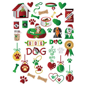 doggy christmas planner stickers