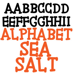 pn alphabet sea salt