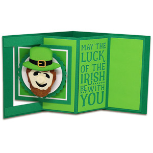 leprechaun window lever card