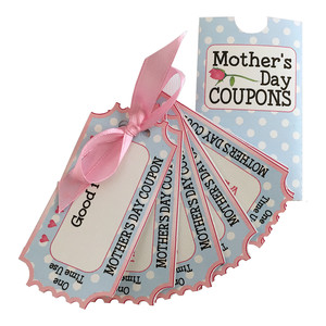 mother's day gift coupons and sleeve
