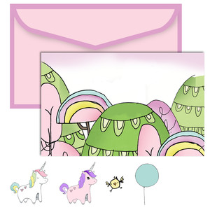 paper doll scene set - unicorn
